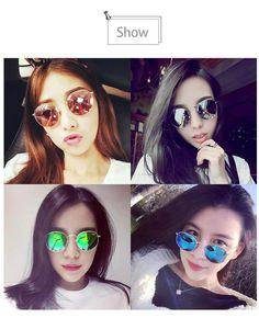 2017 Women Vintage Color Film Polarized Sunglasses Metal Frame fashion eyewear  #new #Round