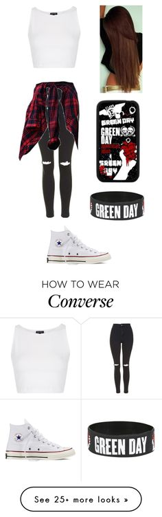 """Green Day Concert"" by alltimelow-123 on Polyvore featuring Topshop, Converse and Samsung"