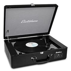 Electrohome Archer Vinyl Record Player Classic Turntable Stereo System with Built-in Speakers, USB for Headphone Jack, & AUX Input for Smartphones, Tablets, Best Portable Record Player, Suitcase Record Player, Turntable Record Player, Vinyl Record Player, Record Players, Vinyl Records, Vinyl Turntable, Built In Speakers, Stereo Speakers
