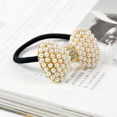 Korean Style Rhinestone Pearl Bow Hair Band
