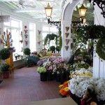 A peek inside Margaret's Garden. Grand Hotel's flower shop.