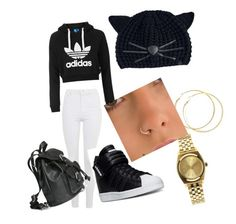 """Untitled #4"" by tytiana-ransom on Polyvore featuring Topshop, Karl Lagerfeld, adidas and Nixon"