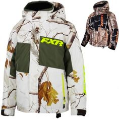 FXR Racing Squadron Realtree Kids Skiing Snowboard Snowmobile Jackets