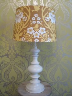 lamp base like this from Target with white shade...white or maybe green