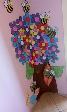 Okul oncesi sanat etkinligi cicek ari