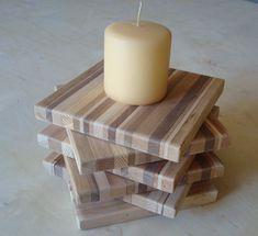 Repurposed Wood Coaster Wood Trivet FREE SHIPPING by BlueRidgeWoodworking on Etsy https://www.etsy.com/listing/64184499/repurposed-wood-coaster-wood-trivet-free