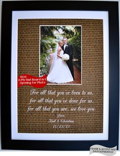 21 best parent wedding gift ideas images on Pinterest | Parent ...