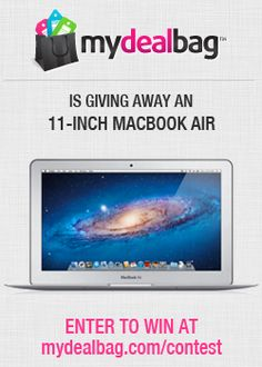 "Win a Prada bag, TWO pairs of Christian Louboutin Shoes, or an 11"" MacBook Air from mydealbag! Enter for FREE! http://bit.ly/I3lmAR"