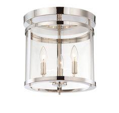 Savoy House Penrose 3 Light Semi-Flush Mount in Polished Nickel 6-1043-3-109