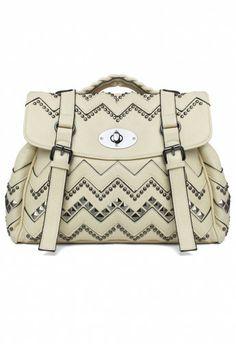 Studded Chevron Bag