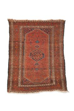 Vintage Rust, Navy and Cream North West Persian Rug. 61 x 75.