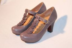 Chie Mihara CORA women's leather shoes heels Size 6 (EUR 36) Authentic Spain