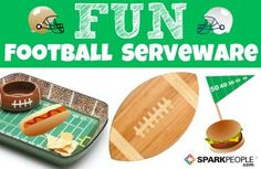 Festive Food Accessories for Football Season!   via @SparkPeople #party #tailgate #tailgating #superbowl