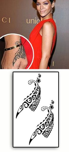 Rihanna Maori Main Tattoos temporaires