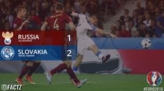 Photo: Slovakia takes the three points against Russia #RUSSVK  #RUS 1 - 2 #SVK  #Euro2016