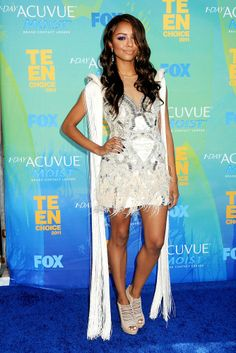 Kat Graham at the Teen Choice Awards 2011 Katerina Graham, Teen Choice Awards, Red Carpet Fashion, Celebrity Style, Celebrities, Womens Fashion, Dresses, Girls, Vestidos