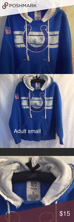 🏈Vintage style colts! 🏈 Gently worn colts sweatshirt! NFL brand! Vintage style. NFL Tops Sweatshirts & Hoodies