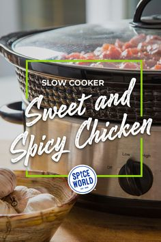 This sweet and spicy chicken crockpot recipe = past you, looking out for future you. 🤗 Who wouldn't want to come home to a fully cooked, bold, and unforgettable meal? Sweet And Spicy Chicken, Spicy Chicken Recipes, Garlic Recipes, Chicken Flavors, Chicken Spices, How To Cook Chicken, Cooker Recipes, Crockpot Recipes, Delicious Recipes