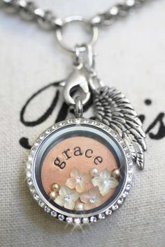 South Hill Designs silver locket with swarovski crystals. Personalize yours today! Heart Locket Necklace, Locket Charms, Star Necklace, Necklace Ideas, Locket Design, South Hill Designs, Jewelry Accessories, Jewelry Design, Ipad
