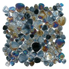 Distinctive Glass | GG-GC1306 | Black Iridescent Mix | Tile > Glass Tile at www.cooltiles.com