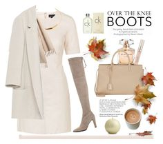 """""""Over The Knee Boots"""" by rever-de-paris ❤ liked on Polyvore featuring Mode, Elie Saab, Stila, Yves Saint Laurent, Topshop, Stuart Weitzman, Jennifer Fisher, Burberry, Crate and Barrel und Zara"""