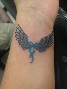 Angel Wings Tattoo on Wrist