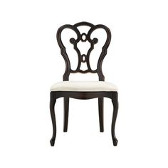 Sabine Dining Side Chair With Upholstered Seat In Rubbed Black