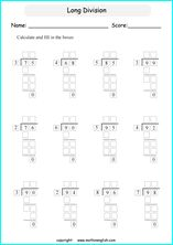 Printable long and tail division worksheets and exercises for grade 4 and 5 math students Long Division Activities, Teaching Long Division, Long Division Worksheets, Grade 6 Math Worksheets, Fractions Worksheets, Math Resources, Teaching Math, Division Problems 4th Grade, 3rd Grade Division