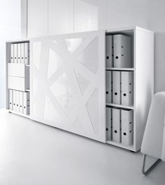 white - closet - office- opbergen - gizgaz - design meubelen - opbergen - kast