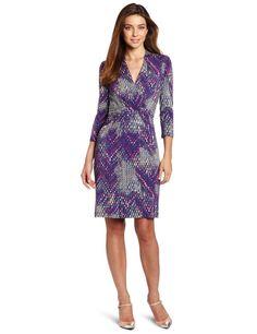 Kenneth Cole Women's Tweedy Ikat Print Pleated Dress: $119.50 #Dress