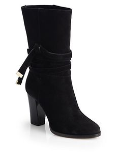 Jimmy Choo - Suede Mid-Calf Boots - Saks.com