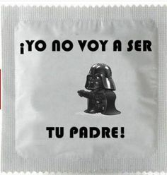 "-Star Wars- Darth Vader condoms ""I will not be your Father! Darth Vader, Camisa Nerd, Star Wars Bad Guys, Geeks, Star Wars Dark, Sabre Laser, Funny Memes, Hilarious, Smosh"