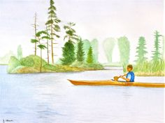 Kayaking in the Slough by Jennifer Ahern