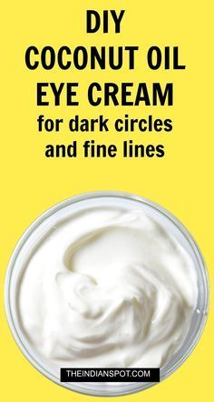 All natural Eye cream with oils for dark circles and fine lines