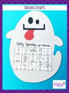 Ghost Craftivity For Speech & Language FREE Printable