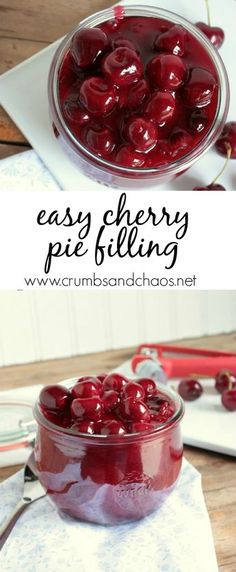 simple to make and unbelievably gorgeous, Easy Cherry Pie Filling can be made in minutes and can be used so many ways!So simple to make and unbelievably gorgeous, Easy Cherry Pie Filling can be made in minutes and can be used so many ways! Fruit Recipes, Sweet Recipes, Dessert Recipes, Nutella Recipes, Fresh Cherry Pie Recipe, Sweet Cherry Recipes, Easy Recipes, Sweet Cherry Pie, Cherry Tart
