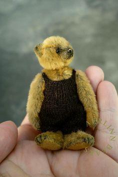 Stanley Miniature Mini Artist Teddy Bear from by aerlinnbears
