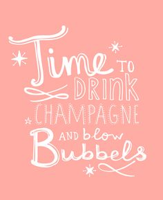 Time to drink Champagne and Blow Bubbles ! by Studio Sjoesjoe