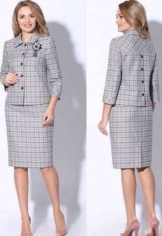 Womens Dress Suits, Suits For Women, Clothes For Women, Cute Dresses, Casual Dresses, Chic Outfits, Fashion Outfits, Ladies Day Dresses, Long Sleeve Evening Dresses