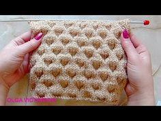 Объемный узор в технике клоке Вязание спицами 292 - YouTube
