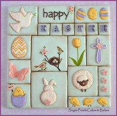 Easter Cookie Collage on Cake Central