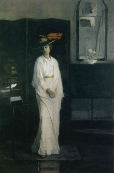 Romaine Brooks - Lady with a White Cockatiel (1922).