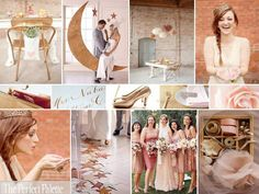 Color palette: blush, pink, ivory, gold and touches of grey