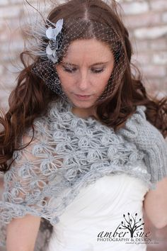 Gray ShawlWedding shawlBridal shawlWinter by MODAcrochet on Etsy Wedding Shrug, Bridal Shrug, Wedding Cape, Bridal Cape, Magenta, Mauve, Bridesmaid Shawl, Bridal Fascinator, Bridal Cover Up