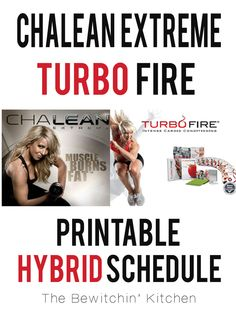Printable Turbo Fire ChaLEAN Extreme Hybrid Schedule By Jenelle Summers