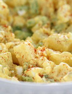 Deviled Egg Potato Salad Deviled Egg Potato Salad, Potato Salad With Egg, Easy Potato Salad, Deviled Eggs, Potluck Recipes, Easy Salad Recipes, Side Dish Recipes, Budget Recipes, Best Potato Salad Recipe