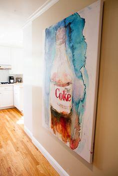 Diet Coke kitchen goodness (art by Dorrie Rifkin)