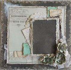 Premade 12x12 Shabby Chic Heritage Layout by TheShabbyHorseCafe