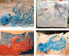 Development work for 'Ahab y la Ballena Blanca / Ahab and the White Whale' by Manuel Marsol