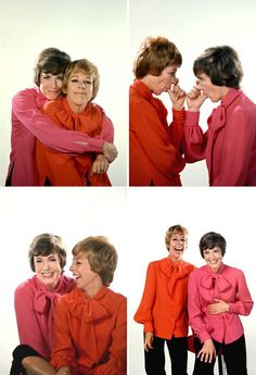 Julie Andrews & Carol Burnett two beautiful talented women! Classic Hollywood, Old Hollywood, Favorite Person, My Favorite Things, Carol Burnett, Julie Andrews, Sound Of Music, Wedding Humor, Good People